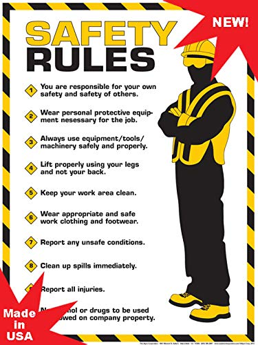 Algra Corporation  Workplace Safety Rules Poster 18' X 24' Poster
