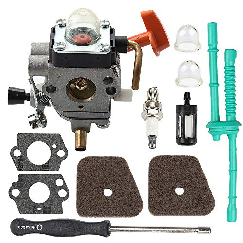 Harbot C1Q-S174 FS90R Carburetor for Stihl FS110R FS130R FS100 KM130R FS130 FS90 KM90R KM90 FS100RX FS110 KM110R HT100 HT101 Trimmer Weed Eater with Tune Up Kit