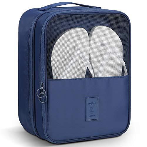 Mossio Schuhtasche für 3 Paar Schuhe für Reisen und den täglichen Gebrauch, Aufbewahrungstasche, Blau (dunkelblau), Einheitsgröße