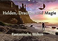Helden, Drachen und Magie (Wandkalender 2022 DIN A2 quer): 12 wundervolle Fantasybilder, die sie durch das Jahr begleiten. (Monatskalender, 14 Seiten )