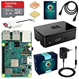 ABOX Raspberry Pi 3 Modello B+ (Plus) Starter Kit Barebone Madre con MicroSD Card 32GB, Custodia e...