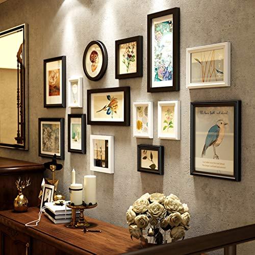 Chunse Wand-Foto-Rahmen-Blumen-Klassische Europäische Art-Hintergrund-Dekorations-Weinlese-Festes Holz-Bilderrahmen Multi-Frames,A