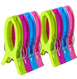 8 Pack Beach Towel Holder Clips, Bestga Jumbo Size Plastic Clothespins Clothes Pegs Pins Clothes Hanger Clamp for Beach Chairs Or Lounge Chair - Keep Your Towel from Blowing Away,Clothes Lines