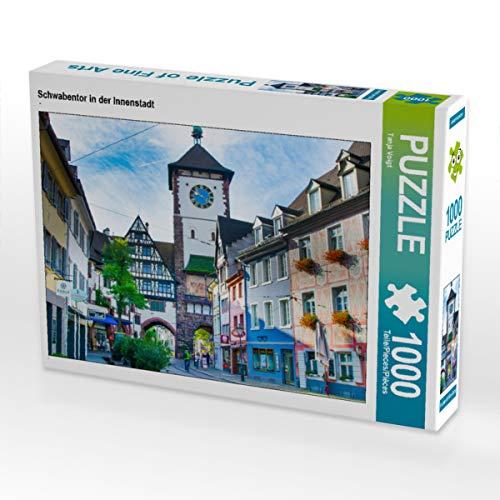 CALVENDO Puzzle Schwabentor in der Innenstadt 1000 Teile Lege-Größe 64 x 48 cm Foto-Puzzle Bild von Midgardson
