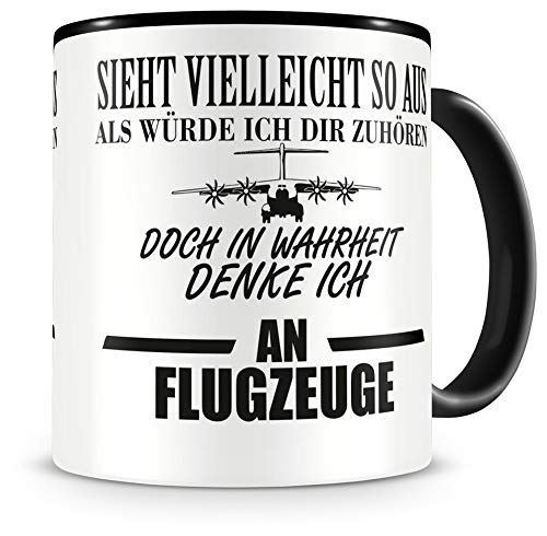 Samunshi® Flugzeug Tasse mit Spruch Geschenke für Piloten Mann Frau Oma oder Opa Kaffeetasse groß Lustige Tassen zum Geburtstag witzige Teetasse