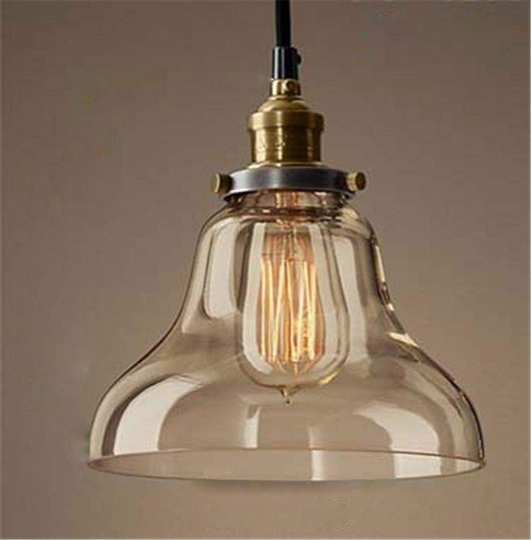 5151BuyWorld Lampe Birne Pendelleuchte Licht Restaurant Anhnger Kupfer Glas Licht Einzelne Pendelleuchte Vintage Versenkbare Wandleuchte Amerikanischen Stil Top Qualitt {C & Somke grau}