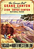 Froy Grand Canyon Zion Bryce Canyon Wand Blechschild Retro