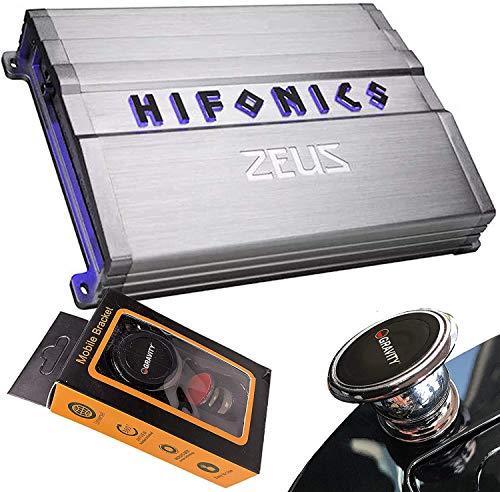 Hifonics ZG-2400.1D 2400 Watts Zeus Gamma Mono Subwoofer Car Audio Amplifier with Gravity Magnet Phone Holder