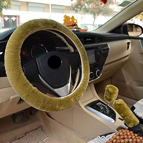 CHENDX Cubierta del Volante del automóvil Protector de Volantes de Lujo de Peluche Universal Auto Cubierta DE Invierno DE Autos Accesorios Interiores DE Cara (Color : A, Size : Free)