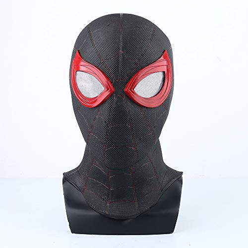 K-Y YK Spider-Man: Far from Home Mask Head Cover Black Mask Shadow Sneak Battle Suit Cosplay Spider-Man (PVC Black)