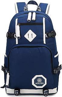 AGOWOO Mens Boys Heavy Duty Teens High School Backpack Bookbag Blue