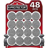 Protectores de Piso X-PROTECTOR Gris 48 PCS - Almohadillas de Fieltro para las Patas de las Sillas - Almohadillas de Fieltro para los Pies de los Muebles - Enormes Cantidades de Protectores de Piso