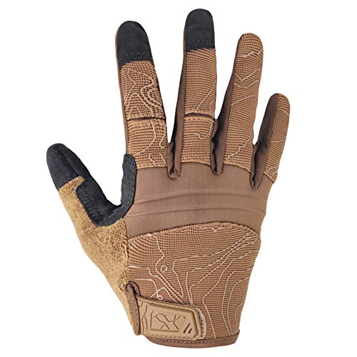 Touch Screen Full Finger Dexterity Tactical Gloves for Shooting Motorcycle Coyote X-Large