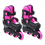 Kids Mandi Adjustable Inline Skates Wheels Small Size Beginner Skates Fun Illuminating Roller Skates...
