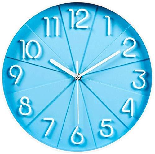 JZX Reloj de Pared Decorativo, Relojes de Pared Moda Stere Mute Reloj Dormitorio Reloj de Cuarzo Creativo