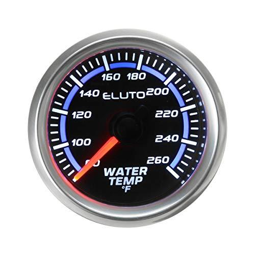 ZOYOSI Medidor de temperatura de agua de 52 mm, 26,7 a 126,7 °C, color azul y negro