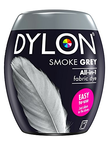DYLON Washing Machine Fabric Dye Pod for Clothes & Soft Furnishings, 350g – Smoke Grey