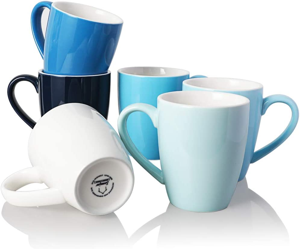 SWEEJAR Porcelain Mug Set 15 OZ San Diego Mall for Tea cheap Cocoa Latte Coffee