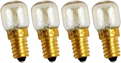 FRCOLOR 4Pcs Oven Light Bulbs 25W Appliance Replacement Bulbs High Temp for Oven Stove Refrigerator Microwave Incandescent...