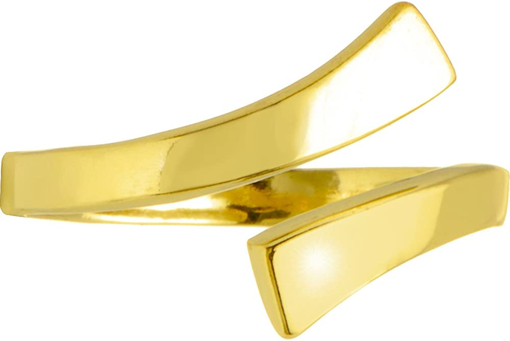 Body Candy Solid 10k Yellow Gold Wrapped Toe Ring