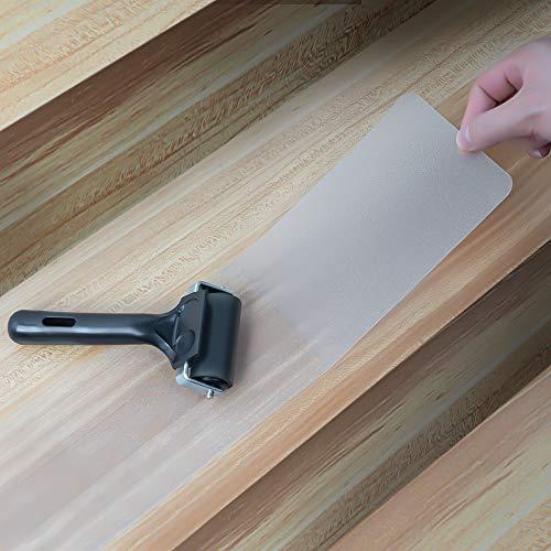 Dohump 15er Pack Vorgeschnittenes Transparentes 76.2 x 10cm Anti-Rutsch-Treppenstufenband, Selbstklebende Stufenstreifen mit Rolle, Verhindert das Verrutschen für Kinder, Älteste und Haustiere