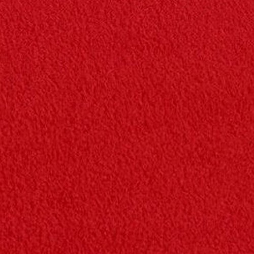 "Red Anti Pill Solid Fleece Fabric, 60"" Inches Wide - Sold By The Yard"