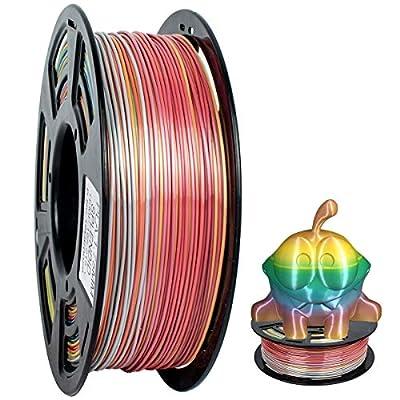 3d Printer Filament 1.75mm,PLA Filament 1KG Spool,Rainbow Multicolor,GEEETECH PLA