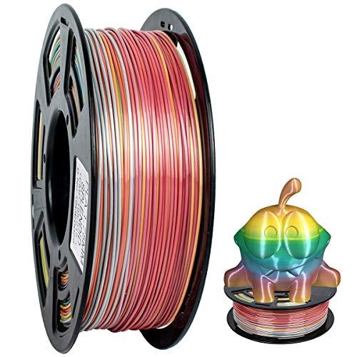 GEEETECH PLA filamento 1.75mm Multicolor, impresora 3D Filamento PLA 1KG Carrete, degradado de color