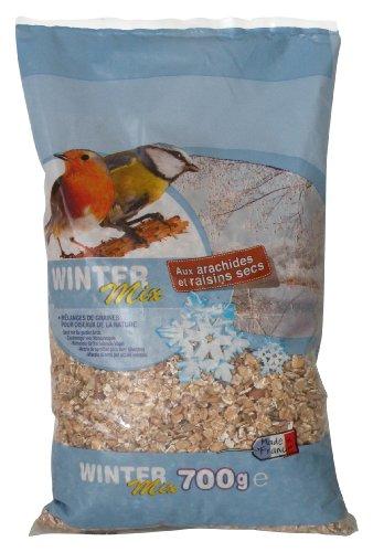 Aime Winter Mix, Nourriture pour les Oiseaux de la Nature, Mélange de Graines avec Arachides et Raisins Secs, Idéal pour Hiver, Sac de 700 g