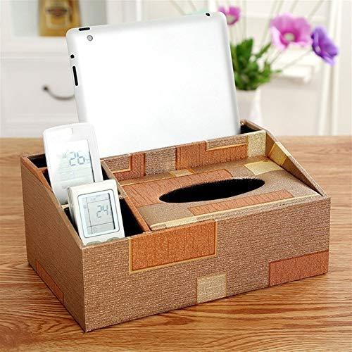 GTUQ Dispensador de servilletas, caja de pañuelos multifunción para el hogar, mesa de café de escritorio, caja de almacenamiento de control remoto para guardar toallas de papel (color: H)