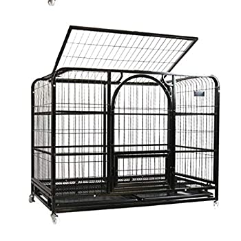 Chenils Cages Cage pour Animaux de Compagnie Cage pour Chiens Petit Chien de Taille Moyenne et Grande pour Chien Cage pour Animaux de Compagnie Amovible Convient pour 32,5 kg Cages