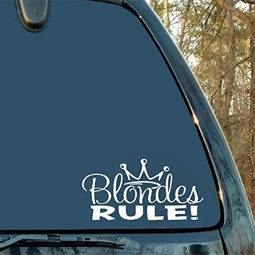 Car Sticker Car Decal 12.7Cm 6.9Cm for Blondes Rule Lovely Princess Crown Sticker Car Decal