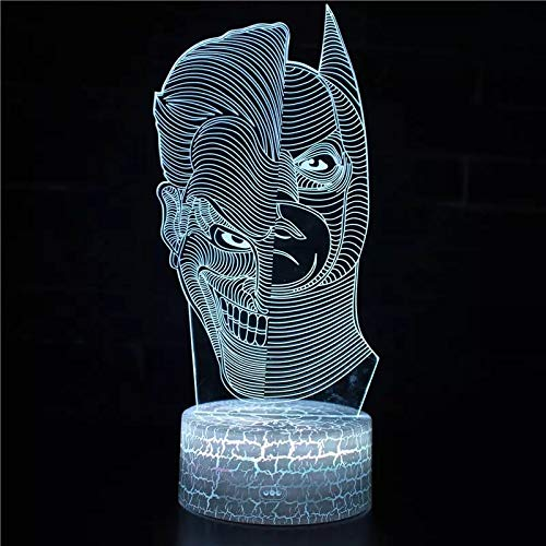 Hermoso personaje de dibujos animados base de grietas lámpara de mesa pequeña creativa decoración creativa lámpara de mesa pequeña luz LED acrílico luz nocturna multicolor luz visual 3D