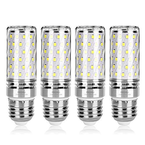 Wedna lampadine LED di mais, E27 15 W 1500LM, 120W equivalenti a incandescenza, Luce Bianco Freddo 6000K, Non Dimmerabile, Risparmio Energetico Mais Lampadina - 4 Pezzi