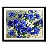5d diy taladro completo diamante pintura bordado azul aciano...