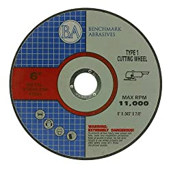 """cheap Thin cutting disc T1 Premium 6 """"x 0.045 x 7/8 ″, metal and stainless steel – 25 pcs."""