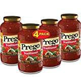 Prego Pasta Sauce, Traditional Italian Tomato Sauce, 24 Ounce Jar (Pack of 4)