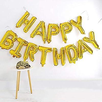 16 Inch Happy Birthday Balloons Letter Banner F...