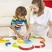 Lewo di Legno Arcobaleno Giocattolo di apprendimento Geometria Costruzioni Puzzle Giochi Educativo 7 Pezzi #4