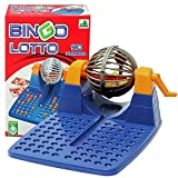 Allkindathings  New Family Large Bingo Lotto Game Revolving Machine with 90 Numbers and 48 Cards