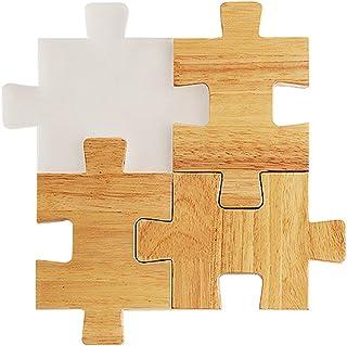 Lyghtzy® Applique da parete creativa in legno naturale e acrilico per sala da pranzo, sala da pranzo, sala studio