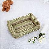 CWYSJ Los Mascotas Cama Grande Memoria Perro Espuma Cama, un sofá con extraíble Lavable Perro Cubierta de la Plataforma. (Color : Green, Size : L70*52 * 15cm)