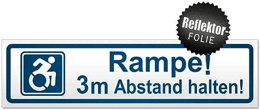Magnetschild Schild magnetisch Motiv 3m Abstand halten Kiwistar Rampe