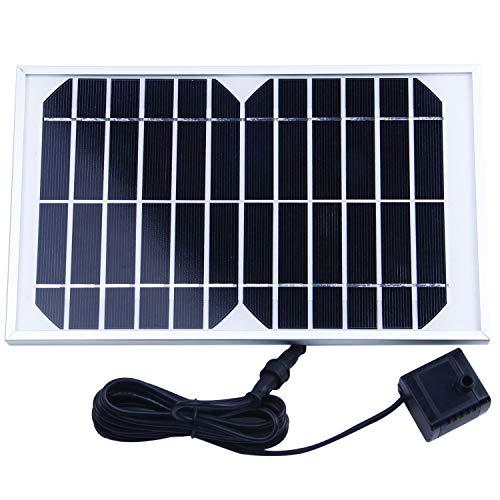REFURBISHHOUSE Bomba Agua Panel Energa Solar para Fuente Estanque 12V 500L/H