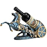 YIBOKANG Estante de Vino Vintage UVA Vino Rack Creative Resin Horse Horse Rack para la Nueva casa Sala de Estar Decoración de Regalo Champagne Wine