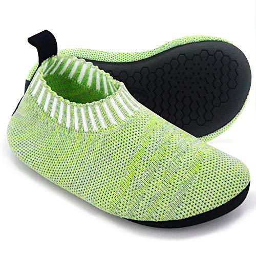 Dream Bridge Hausschuhe für Kinder, rutschfeste Socken für Jungen, Sportschuhe mit Gummisohle, Grün - grün - Größe: 30.5/31.5 EU