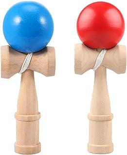 Hifinger けん玉 2個セット (赤、青) 剣玉 けん玉教室 練習用 競技用 kendama