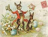 Papel Manteles individuales cuadro Mats cena de Pascua Conejo de Pascua Decor Pak 50manteles individuales