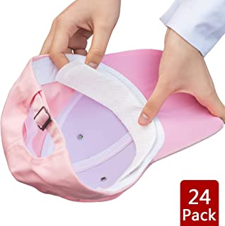 Acoser Hat Liner & Cap Protection - Disposable Collar Protector Sweat Pads - Invisible Protection Against Sweat & Stain for Women and Men (24pcs)