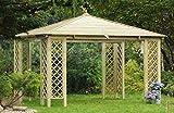 Jardinion Pavillon Rimini Holzdach 3 x 4m - Pergola, Unterstand, Gartenlaube, Grillunterstand, Garten Überdachung